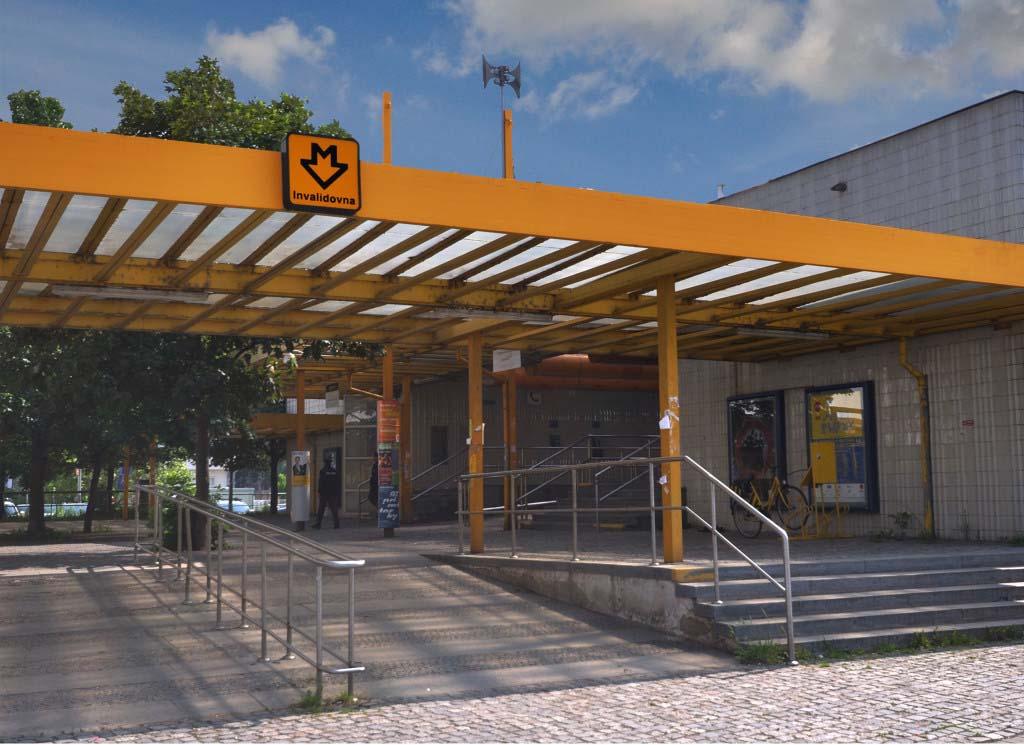 Stavební práce metro Invalidovna
